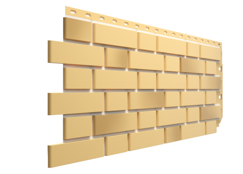 Картинка товара Фасадные панели Деке Flemish Желтый жженый под кирпич