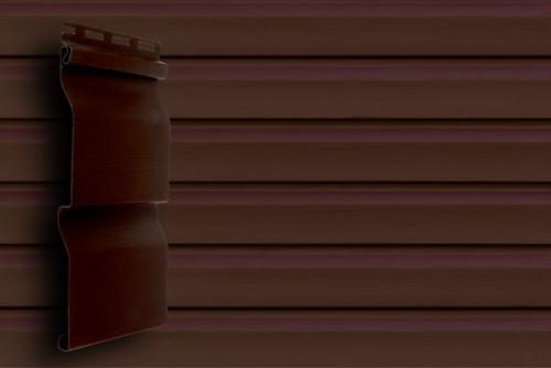 Картинка товара Сайдинг Grand Line Корабельный брус D4 Slim темный дуб