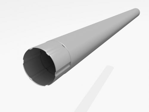 Картинка товара Труба водосточная Интерпрофиль 90 мм. цинк 3м
