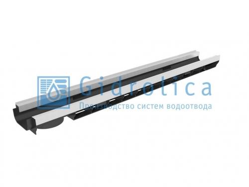 Картинка товара Лоток водоотводный Gidrolica Standart Plus DN100 пластиковый усиленный
