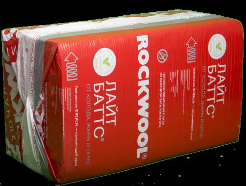 Картинка товара Утеплитель Роквул Лайт Баттс 50х600х1000 мм