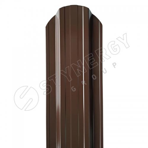 Картинка товара Штакетник Stynergy полукруглый П-образный PE 0,4 мм