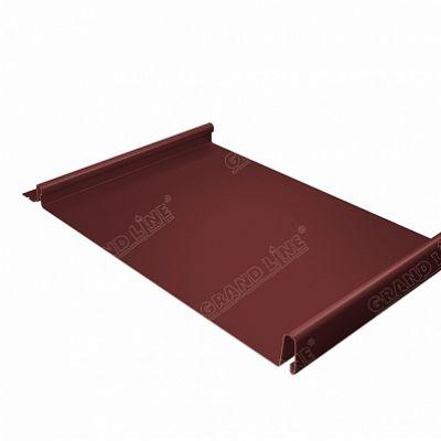 Картинка товара Фальцевая кровля Grand Line Кликфальц PE 0,45 мм. RAL 3009 (красная окись)