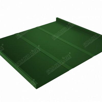 Картинка товара Фальцевая кровля Grand Line Фальц двойной стоячий Line PE 0,45 мм RAL 6002 (зеленый лист)