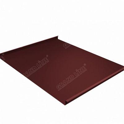 Картинка товара Фальцевая кровля Grand Line Фальц двойной стоячий PE 0,45 мм. RAL 3009 (красная окись)