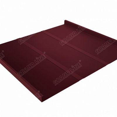 Картинка товара Фальцевая кровля Grand Line Фальц двойной стоячий Line Quarzit lite 0,5 мм RAL 3005 (красное вино)