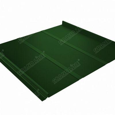Картинка товара Фальцевая кровля Grand Line Кликфальц Профи PE 0,45 мм. RAL 6002 (зеленый лист)