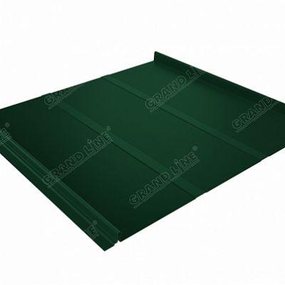 Картинка товара Фальцевая кровля Grand Line Кликфальц Профи PE 0,45 мм. RAL 6005 (зеленый мох)