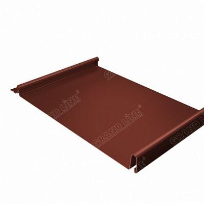 Картинка товара Фальцевая кровля Grand Line Кликфальц PE 0,45 мм. RAL 8004 (коричневая медь)