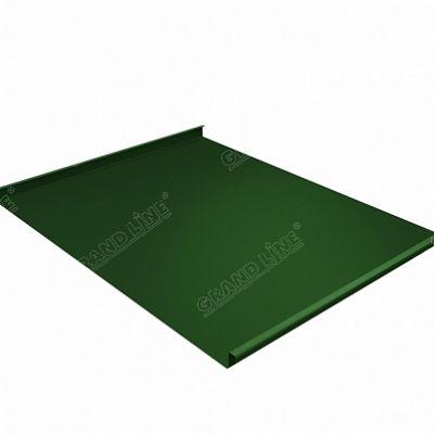 Картинка товара Фальцевая кровля Grand Line Фальц двойной стоячий PE 0,45 мм. RAL 6002 (зеленый лист)