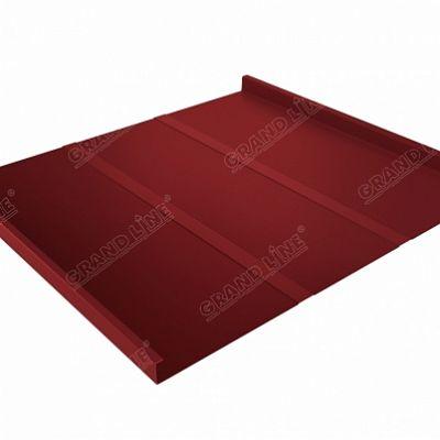 Картинка товара Фальцевая кровля Grand Line Фальц двойной стоячий Line Satin 0,5 мм RAL 3011 (коричнево-красный )