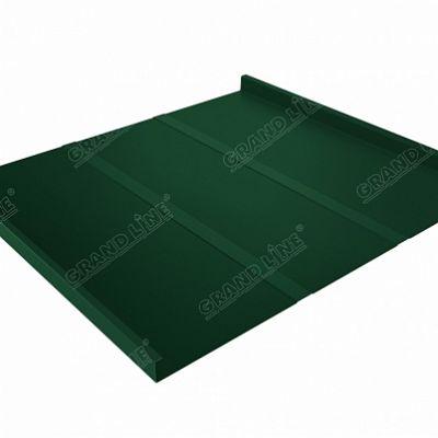 Картинка товара Фальцевая кровля Grand Line Фальц двойной стоячий Line Satin 0,5 мм RAL 6005 (зеленый мох)