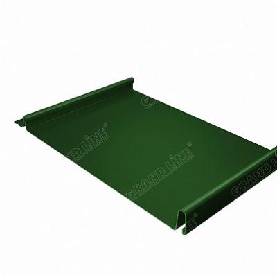 Картинка товара Фальцевая кровля Grand Line Кликфальц PE 0,45 мм. RAL 6002 (зеленый лист)