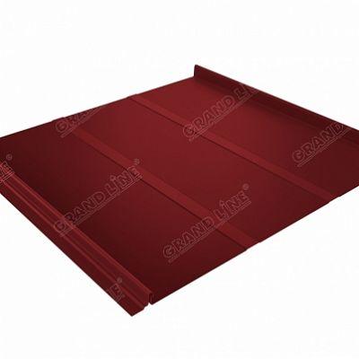 Картинка товара Фальцевая кровля Grand Line Кликфальц Профи Satin 0,5 мм. RAL 3011 (коричнево-красный )