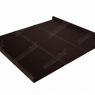 Картинка товара Фальцевая кровля Grand Line Фальц двойной стоячий Line Satin 0,5 мм RAL 8017 (коричневый шоколад)