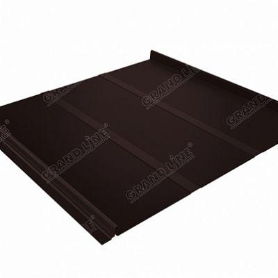 Картинка товара Фальцевая кровля Grand Line Кликфальц Профи Satin 0,5 мм. RAL 8017 (коричневый шоколад)