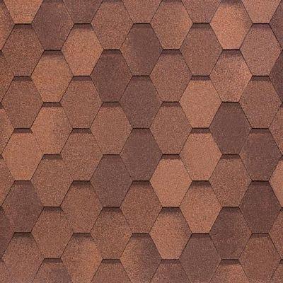 Картинка товара Черепица Тегола NOBIL TILE Вест Красно-коричневый