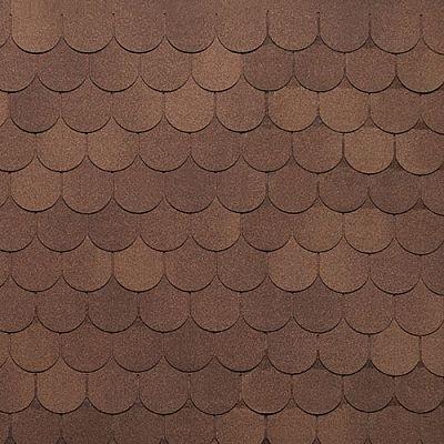 Картинка товара Мягкая кровля Тегола Нордлэнд Антик Коричневый с отливом
