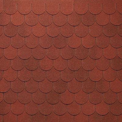 Картинка товара Мягкая кровля Тегола Нордлэнд Антик Красный с отливом