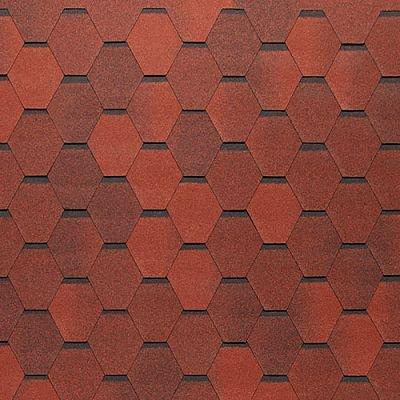 Картинка товара Черепица Тегола Нордлэнд Нордик Красный с отливом