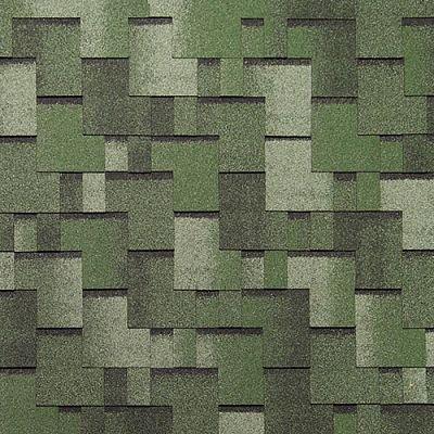 Картинка товара Черепица Тегола Нордлэнд Альпин Зеленый с отливом