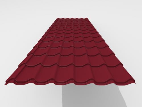 Картинка товара Металлочерепица Интерпрофиль Стальной шёлк 0,5мм